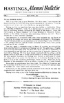Hastings Alumni Bulletin Vol.3, No.2 (1953)