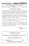 Hastings Alumni Bulletin Vol.6, No.4 (1957)
