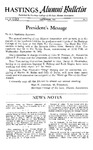 Hastings Alumni Bulletin Vol. III (12), No.2 (1962)