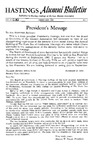Hastings Alumni Bulletin Vol. IV (13), No.1 (1963) by Hastings College of the Law Alumni Association