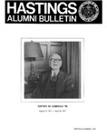 Hastings Alumni Bulletin Vol. XIX, No.2 (Spring/Summer, 1975)