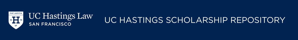 UC Hastings Scholarship Repository
