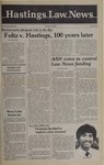 Hastings Law News Vol.13 No.2 by UC Hastings College of the Law