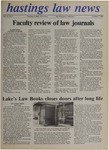 Hastings Law News Vol.19 No.2 by UC Hastings College of the Law